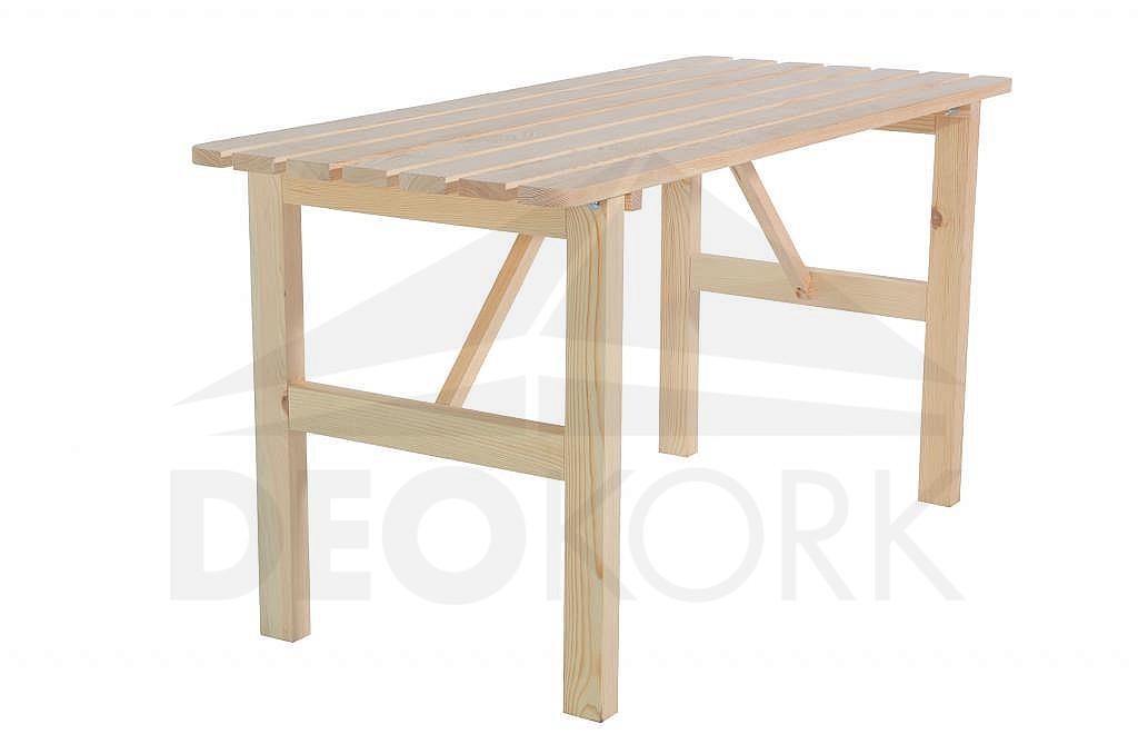 3999b5ed0af9 Masívny drevený záhradný stôl z borovice drevo 22 mm