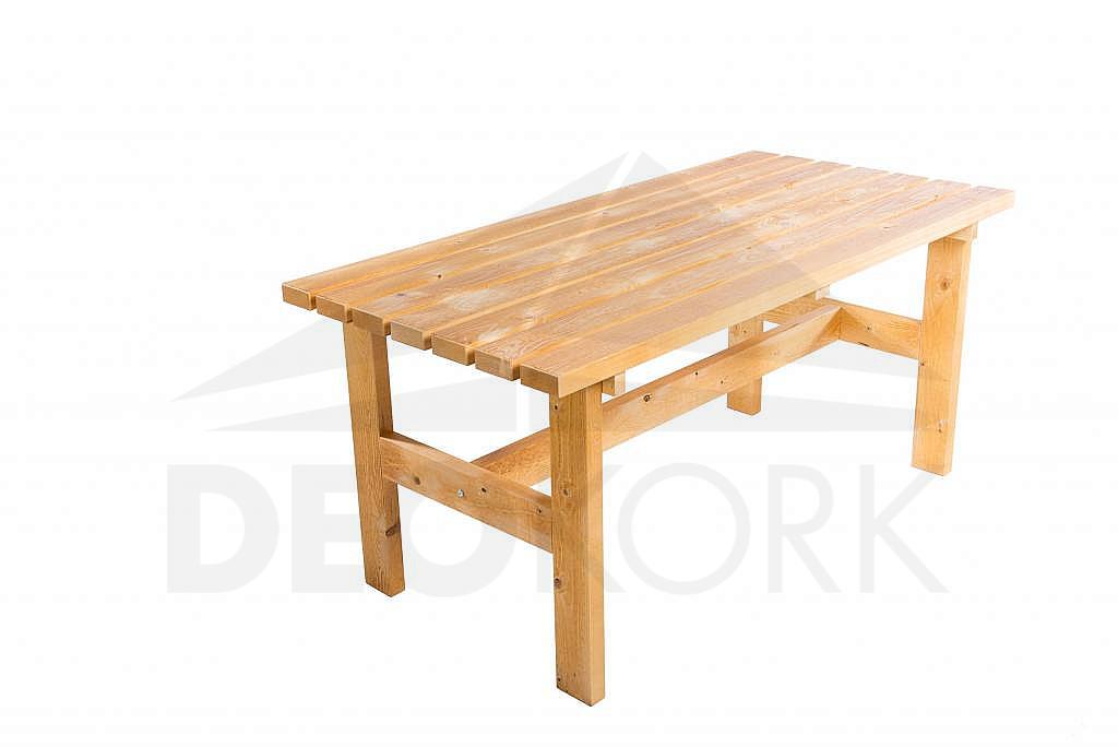 Masívny drevený záhradný stôl TEA 02 hrúbka 38 mm