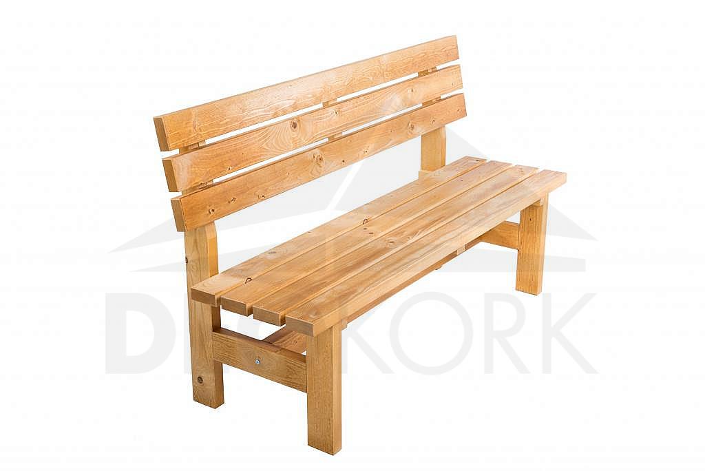 Masívna drevená záhradna lavice TEA 04  hrúbka 38 mm