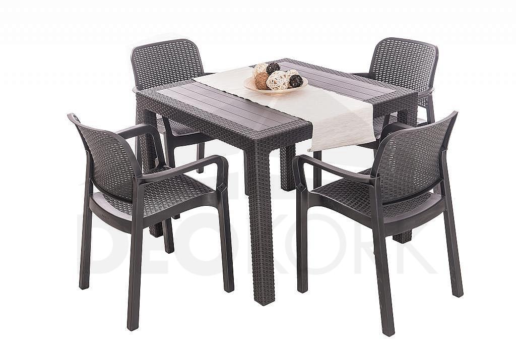 7df5814c22d79 Záhradná plastová stolička KARA (antracit). Záhradná plastová stolička KARA  (antracit)