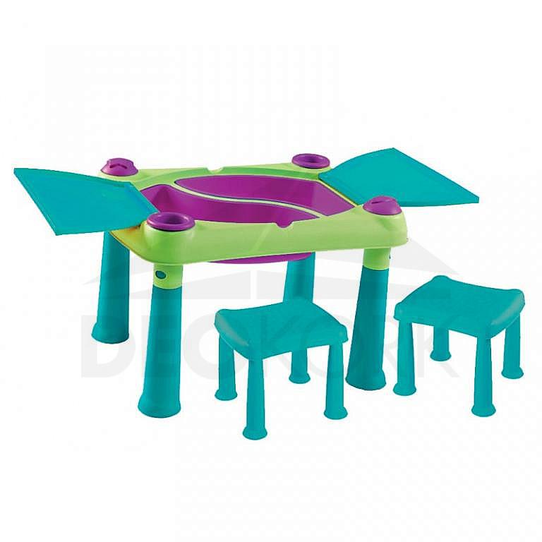 c786484aea13 Detský multifunkčný stolík PLAY (modro-zelený). Detský multifunkčný stolík  PLAY (modro-zelený)