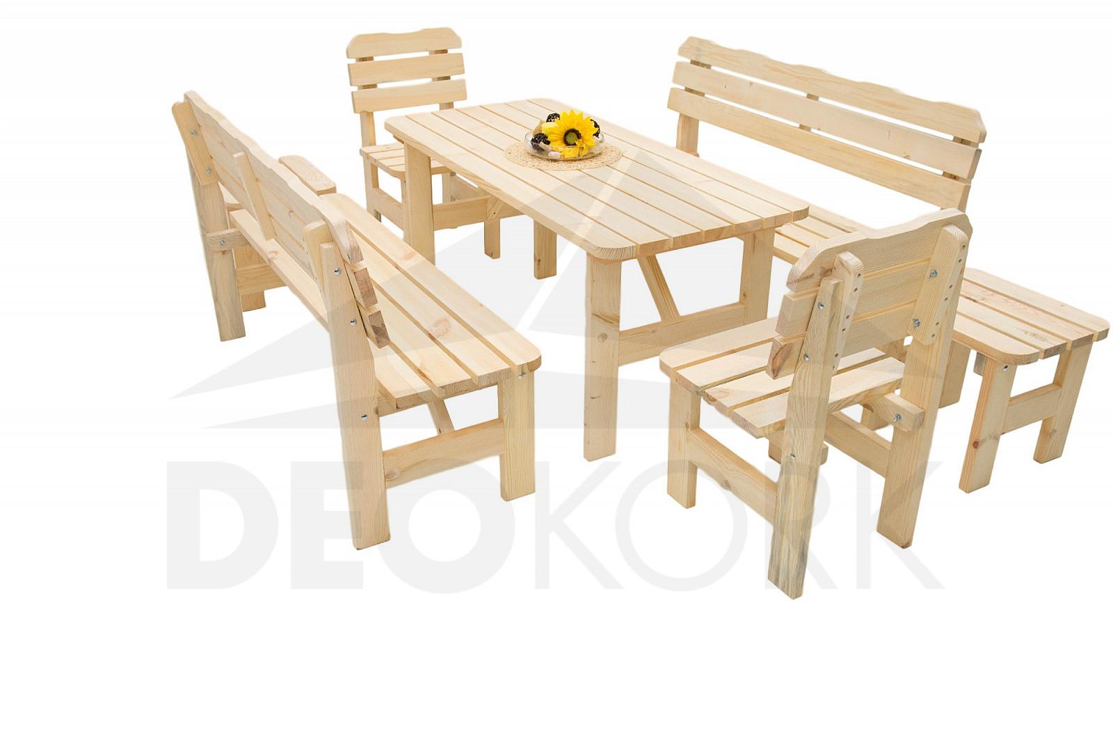 4a36c0b6d009 Masívna drevená záhradná zostava z borovice 1 +6 drevo 32 mm