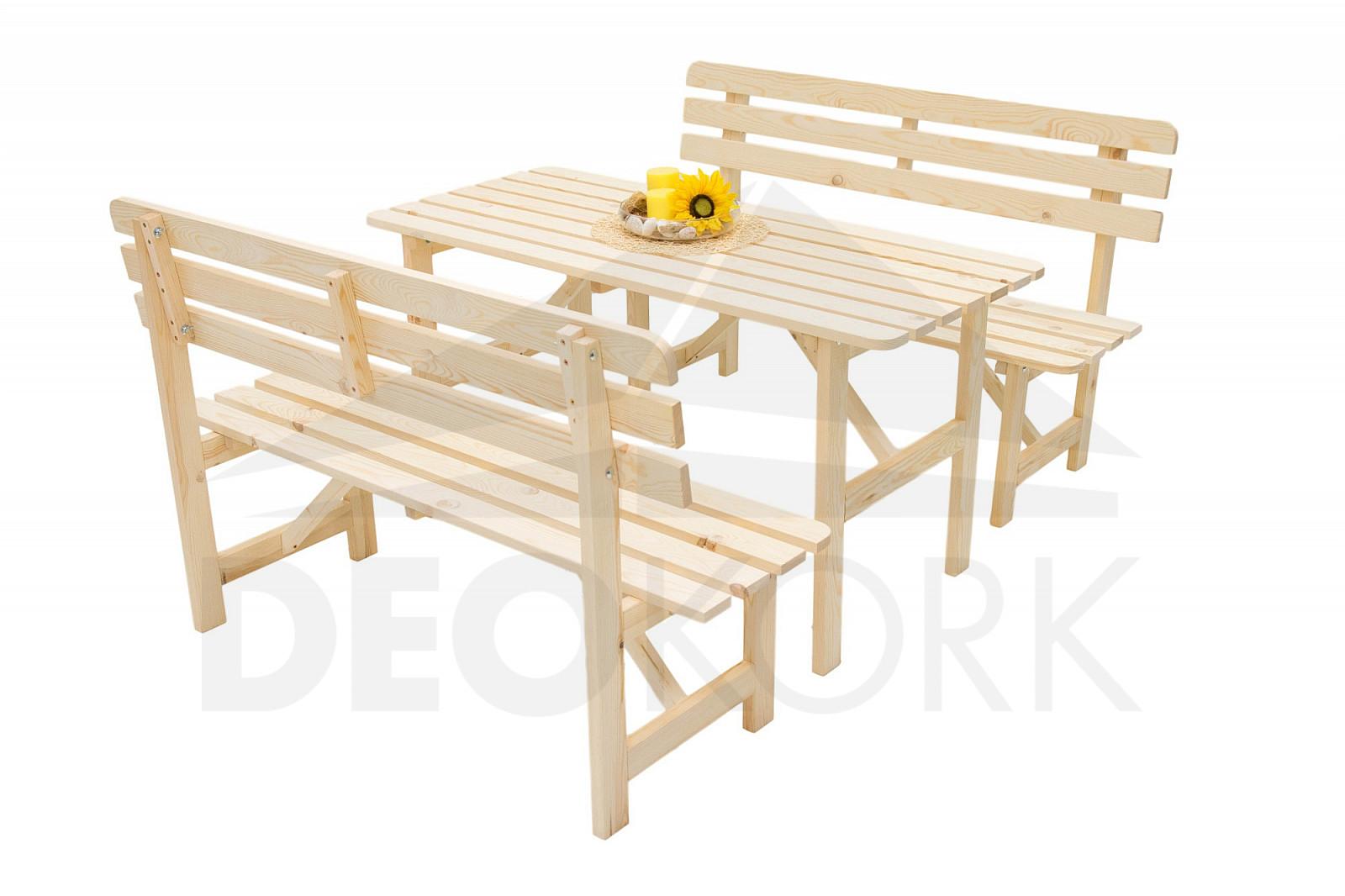 7c451621d94d Masívna drevená záhradná zostava z borovice 1+2 drevo 22 mm