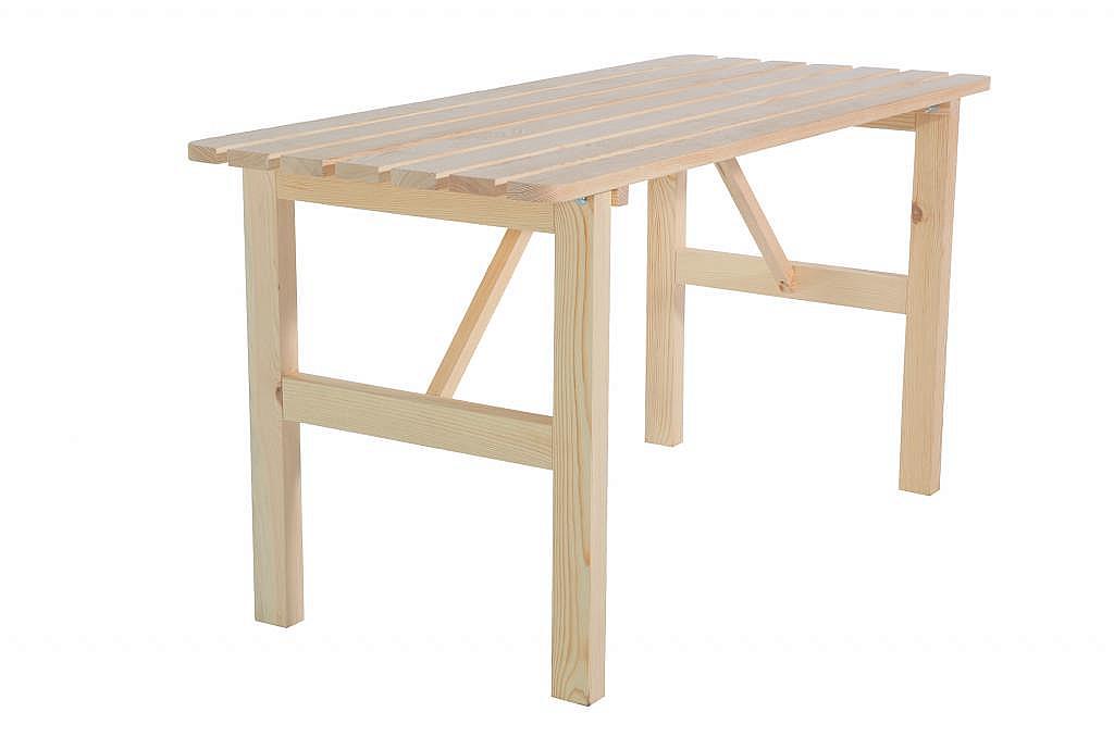 DEOKORK Masívny drevený záhradný stôl z borovice drevo 22 mm