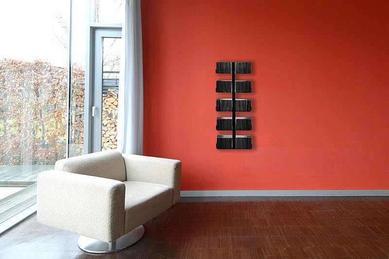Radius design cologne Zakladač na CD 10 poličiek RADIUS DESIGN (CD-BAUM schwarz WAND 1 KLEIN 722A) čierny