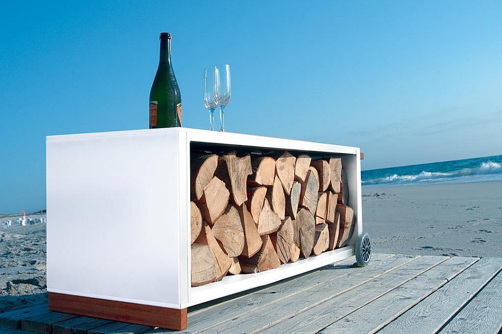 Radius design cologne Vozík na drevo RADIUS DESIGN (KAMINHOLZWAGEN weiss 470D) biely