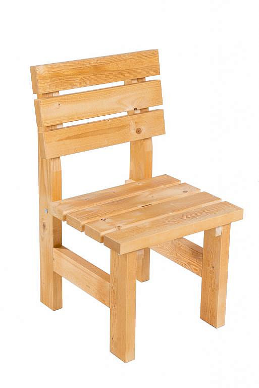 DEOKORK Masívne drevené záhradne kreslo TEA 01 hrúbka 38 mm