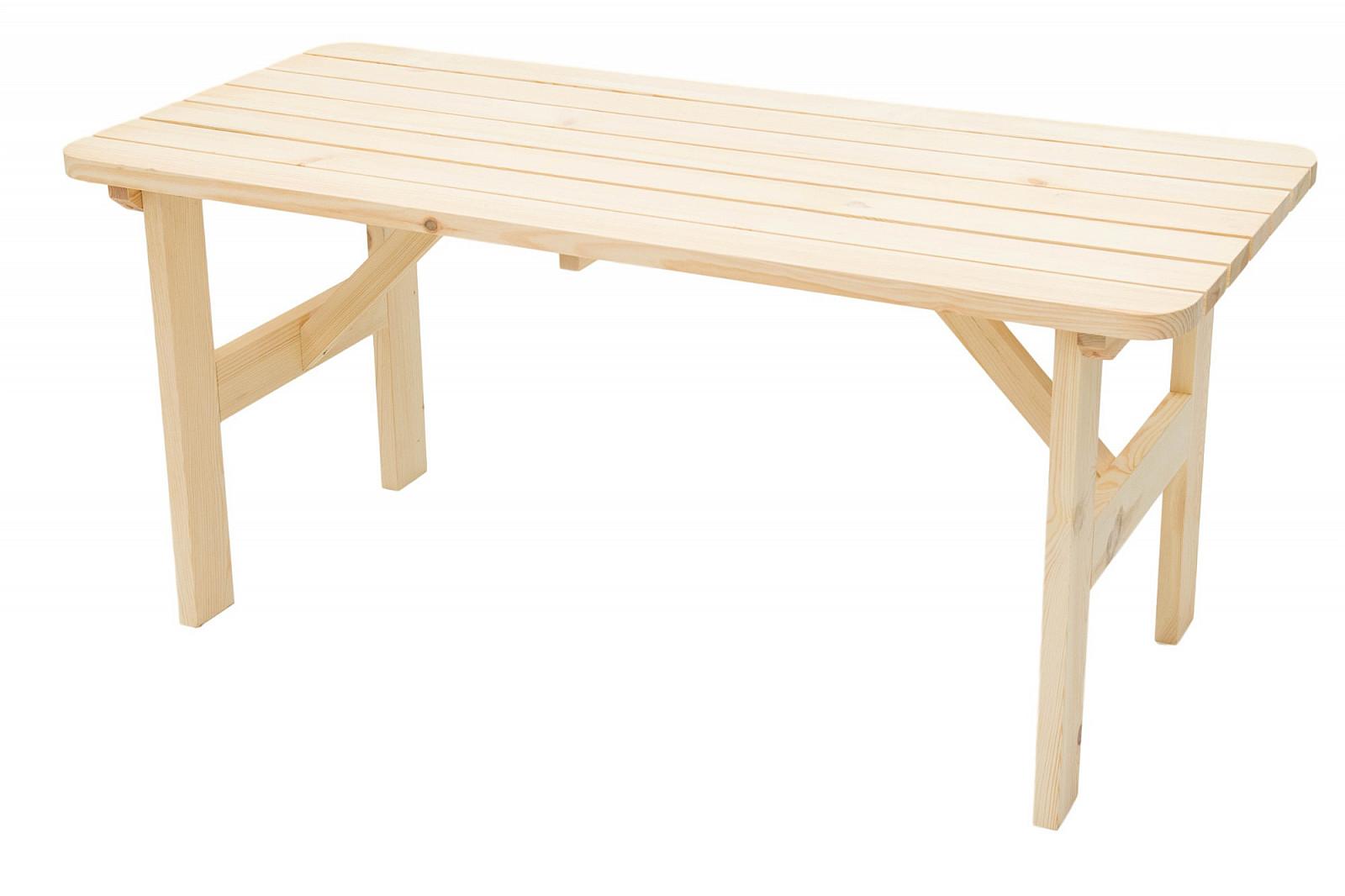 DEOKORK Masívny drevený záhradný stôl z borovice drevo 32 mm (180 cm)
