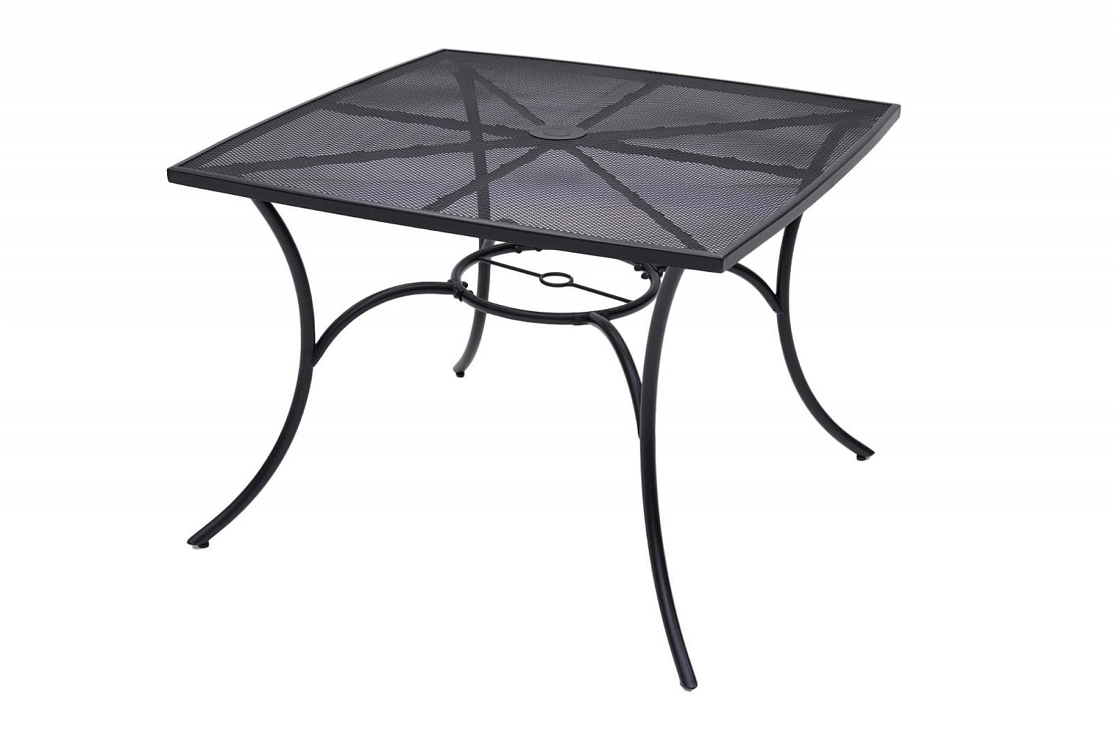 DEOKORK Kovový stôl QUADRA 100x100 cm (čierna)