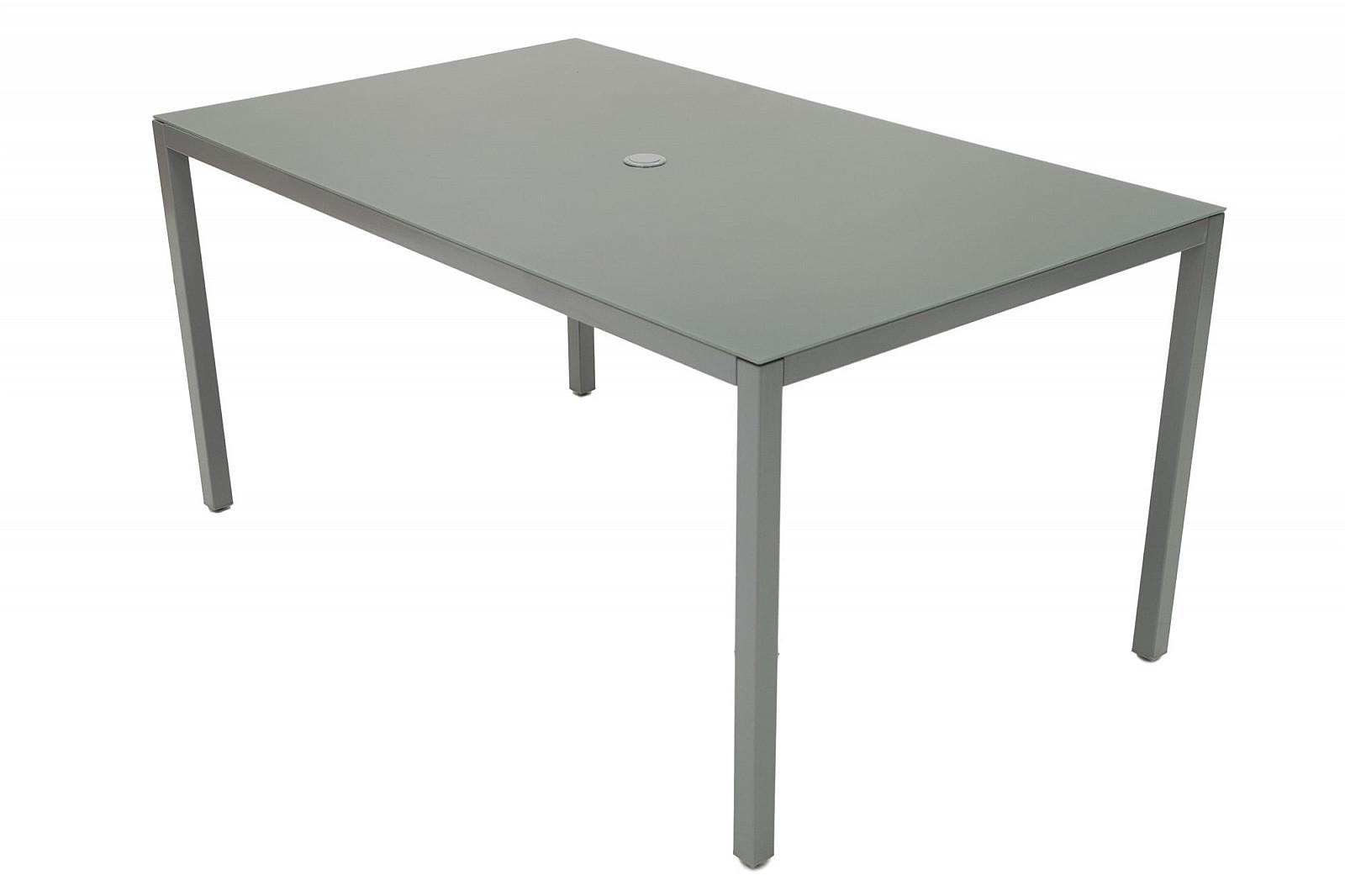 DEOKORK VÝPREDAJ Kovový stôl DEO805 150 x 90 cm (sivý)