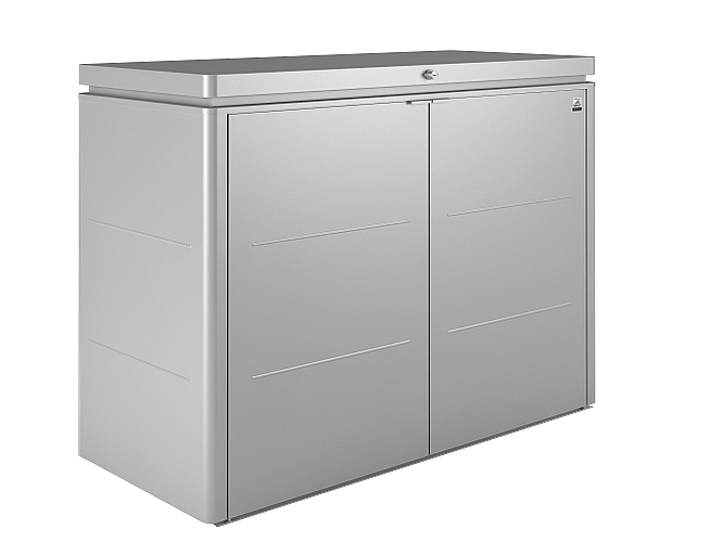 Biohort Multiúčelový úložný box HighBoard 160 x 70 x 118 (strieborná metalíza) 160 cm (3 krabice)