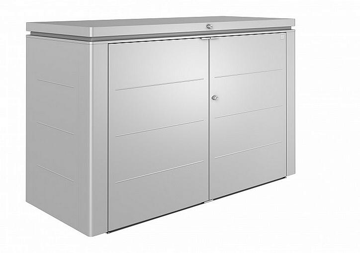 Biohort Multiúčelový úložný box HighBoard 200 x 84 x 127 (strieborná metalíza) 200 cm (3 krabice)