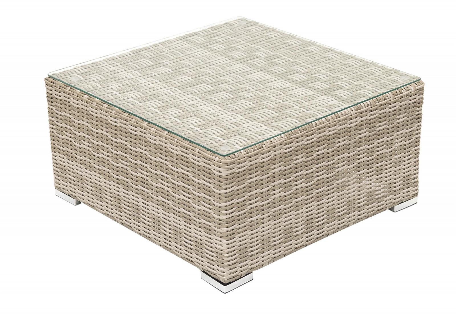Ratanový stolík/taburet SEVILLA (béžová)