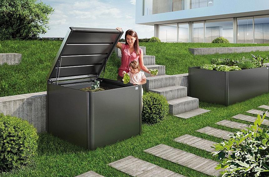 Biohort Komposter MonAm (tmavo sivá metalíza) 102x102x86 (2 krabice)