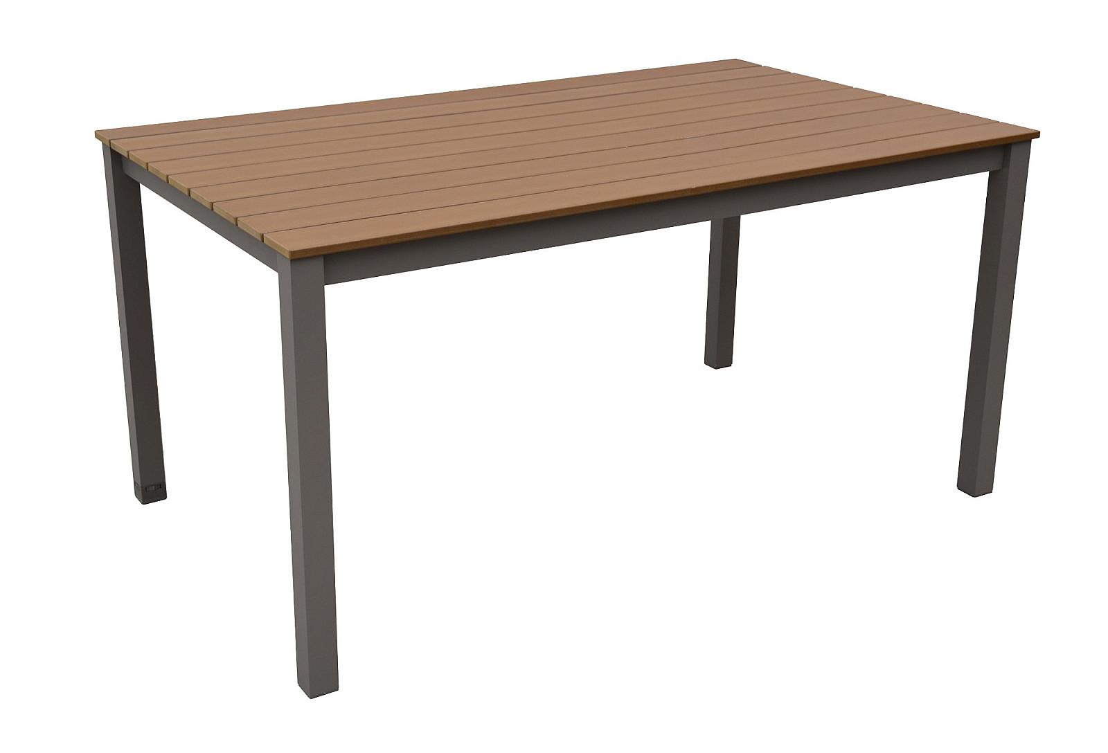 VÝPREDAJ Záhradný ratanový stôl CALVIN 150x90 cm (hnedá)
