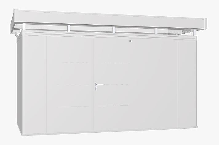 Biohort Záhradný domček BIOHORT CasaNova 430 x 230 (strieborná metalíza) orientace dverí vpravo