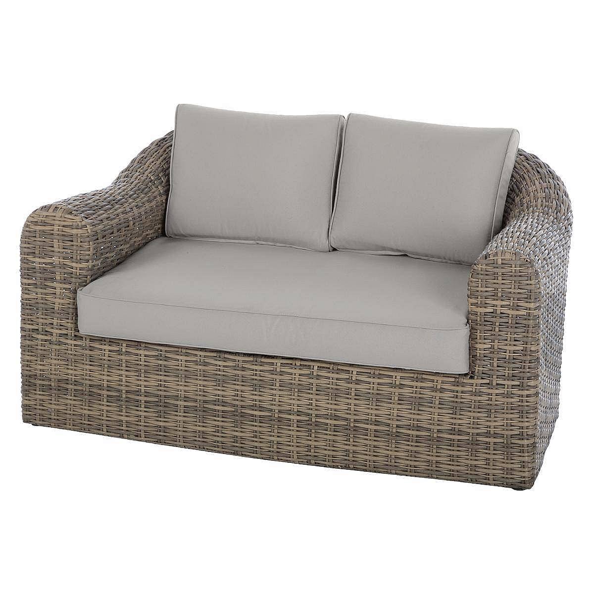 Ratanová lavica pre 2 osoby BORNEO (hnedá)