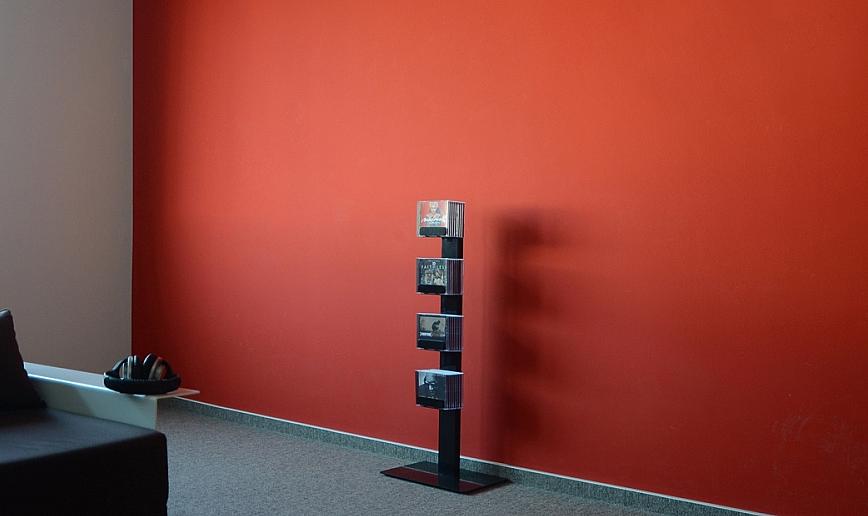 Radius design cologne Zakladač na CD 4 poličky RADIUS DESIGN (CD-BAUM black 2 STAND SMALL 737A) čierná