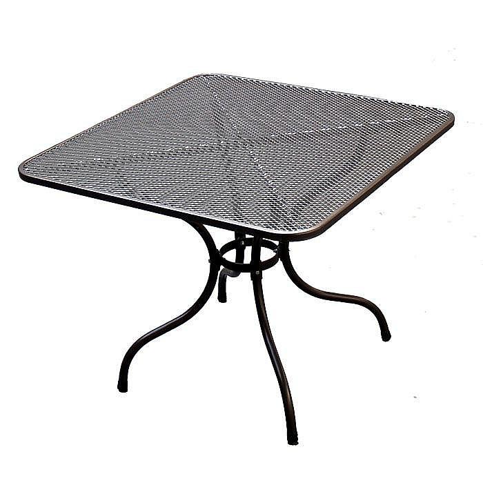 Unikov Kovový stôl 90 x 90 cm