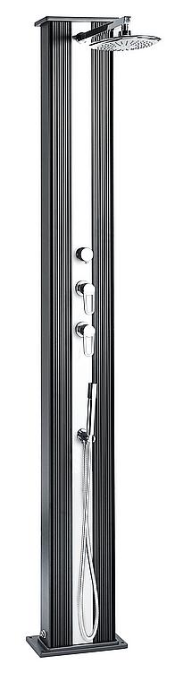 Solárna sprcha s ruční sprchou DADA (antracit/inox)