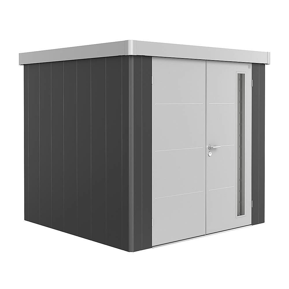 Biohort Záhradný domček BIOHORT NEO DUO 2B 236 x 236 (tmavo šedá metalíza / strieborná metalíza)
