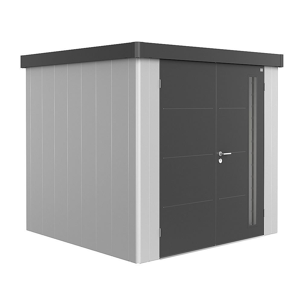 Biohort Záhradný domček BIOHORT NEO DUO 2B 236 x 236 (strieborná metalíza / tmavo šedámetalíza)