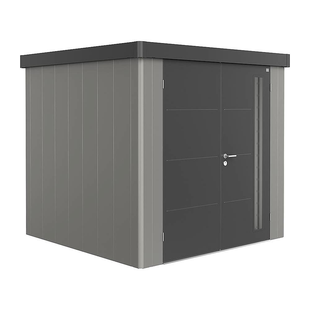 Biohort Záhradný domček BIOHORT NEO DUO 2B 236 x 236 (sivý kremeň metalíza / tmavo šedá metalíza)