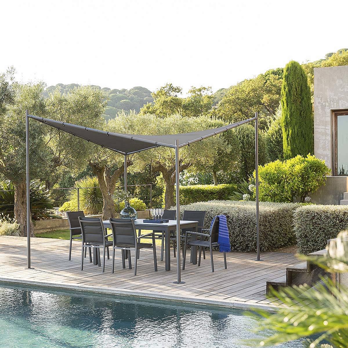 HESPERIDE Záhradný kovový altánok SYDNEY 3x3 m