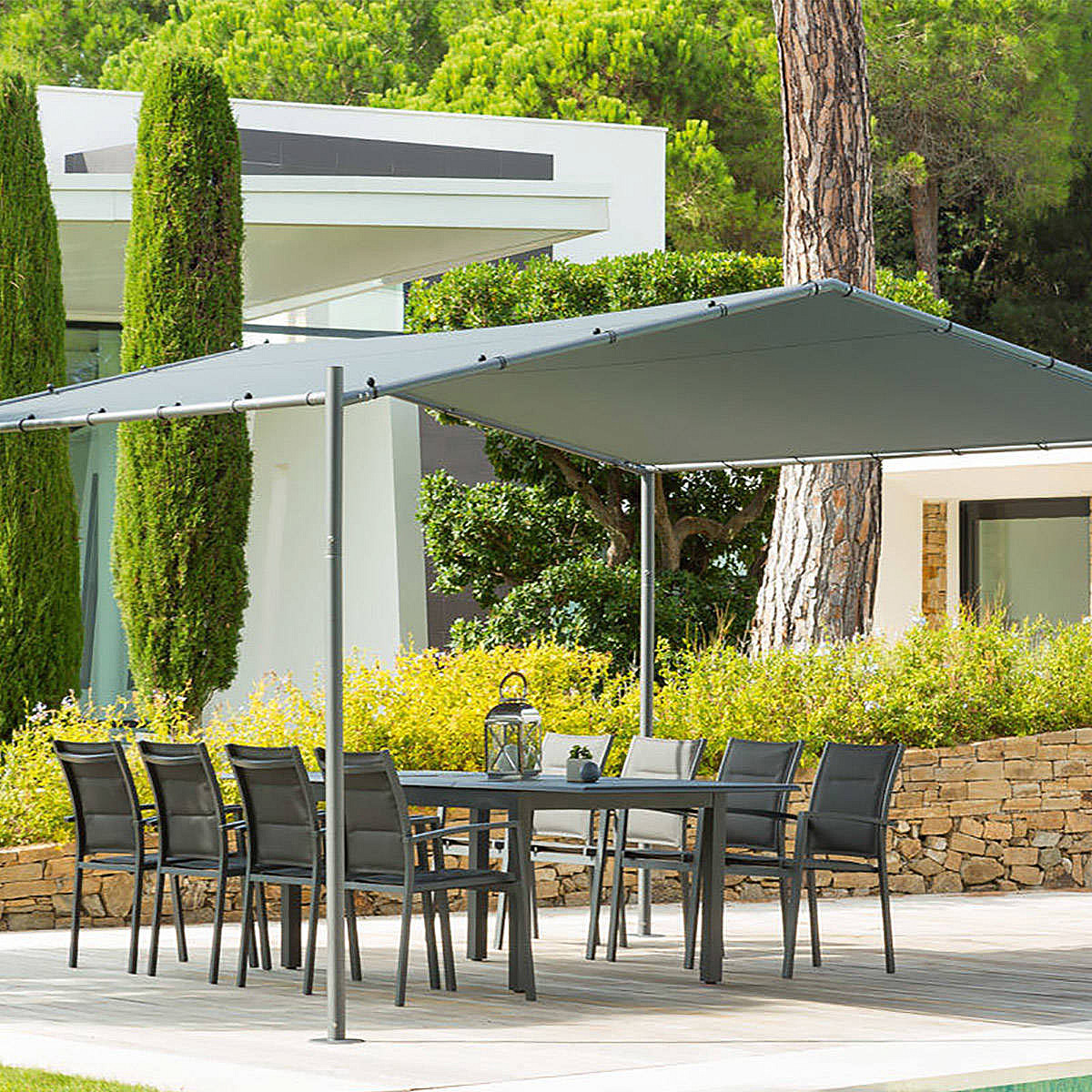 HESPERIDE Záhradný kovový altánok CANBERRA 4x4 m