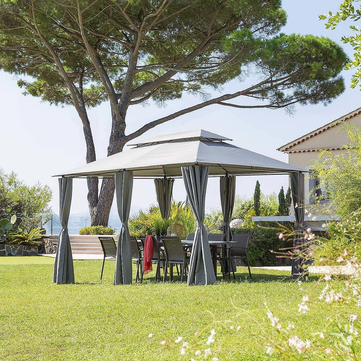 HESPERIDE Záhradný kovový altánok BRISBANE 3x4 m