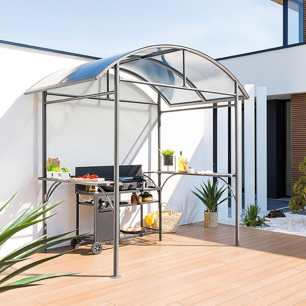 HESPERIDE Záhradný prístrešok pre gril 2,5x1,6 m