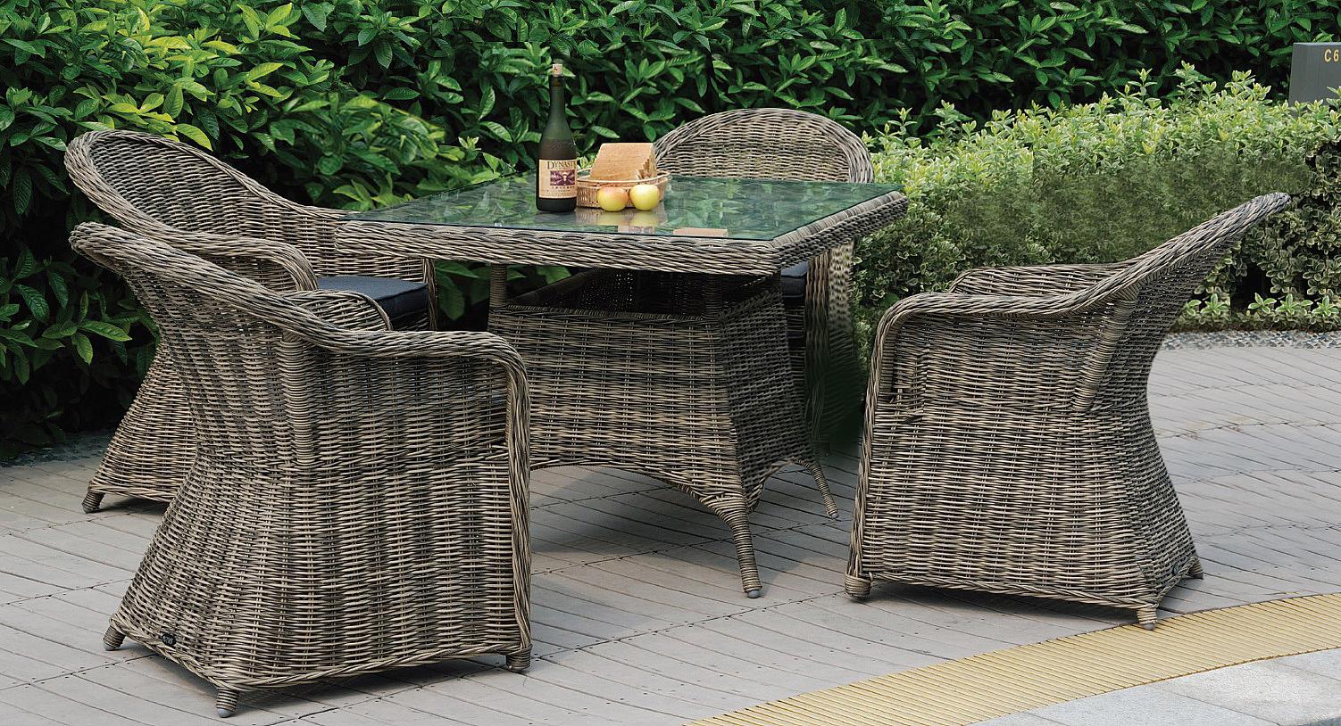 Ratanový jedálenský stôl RICHMOND 90x90 cm