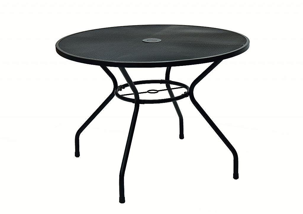 DEOKORK Kovový stôl TAMPA ø 100 cm (čierna)