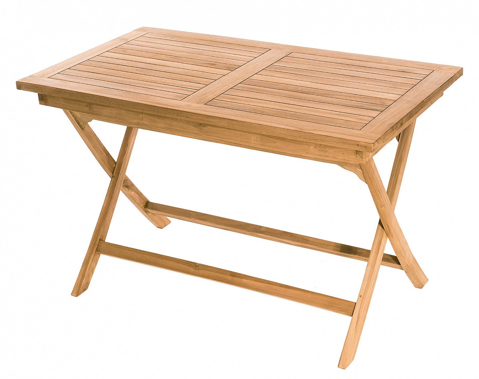 DEOKORK Záhradný skladací stôl obdĺžnik COIMBRA 120 x 70 cm (teak)