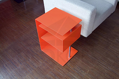 Stolík RADIUS DESIGN (X-CENTRIC TABLE orange 530B) oranžový