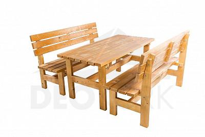 634fe07b56be Masívna drevená záhradná zostava TEA 1+2 drevo 38 mm