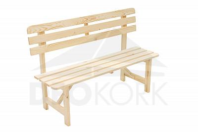931ae28e5683 Masívna drevená záhradná lavice z borovice drevo 22 mm