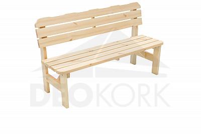 12cb41ab9fb1 Masívna drevená záhradná lavice z borovice drevo 32 mm
